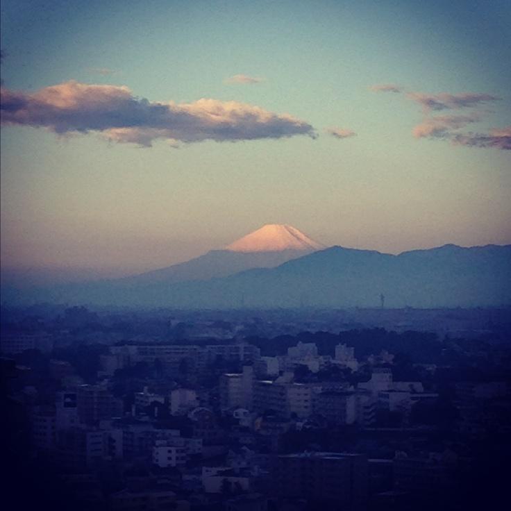 今日の富士山。