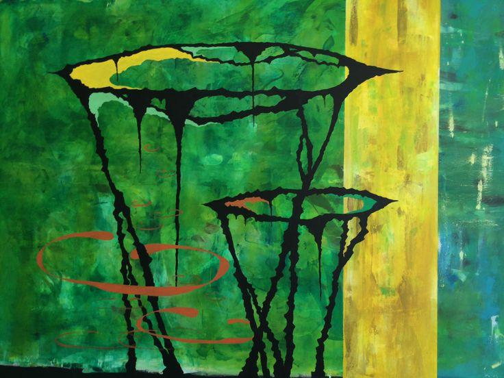 arl, detalje Krater, grøn