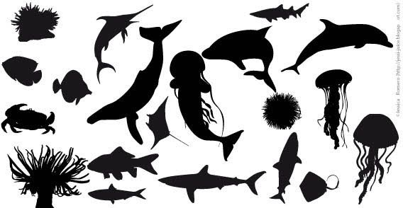 Fish Silhouettes Vector | Download Free Vector Graphic Designs | 123FreeVectors