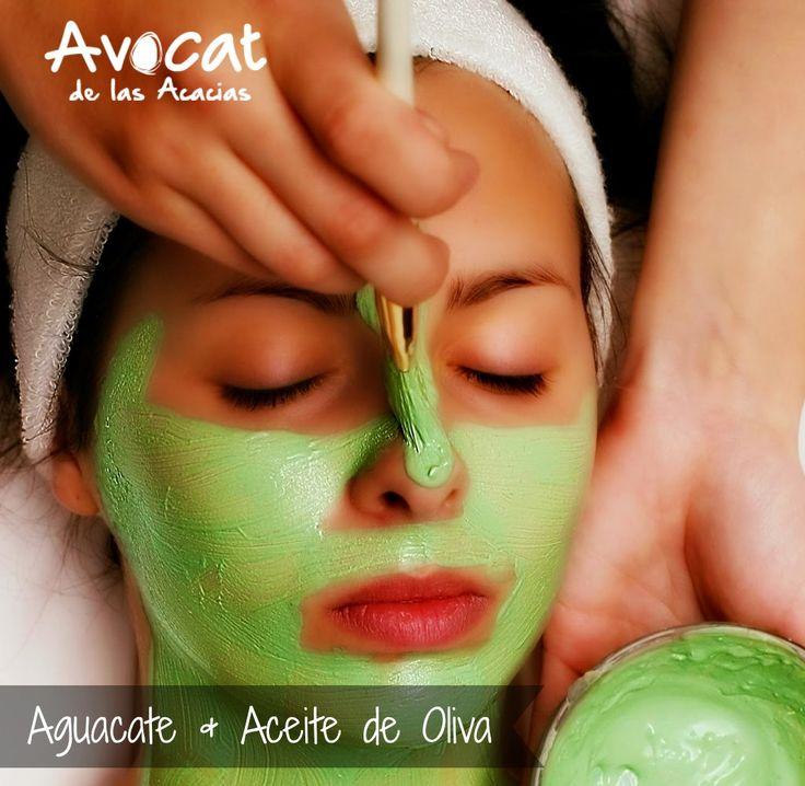 Las pieles secas pueden mejorar el aspecto de su rostro con esta mascarilla de #aguacate y aceite de oliva.