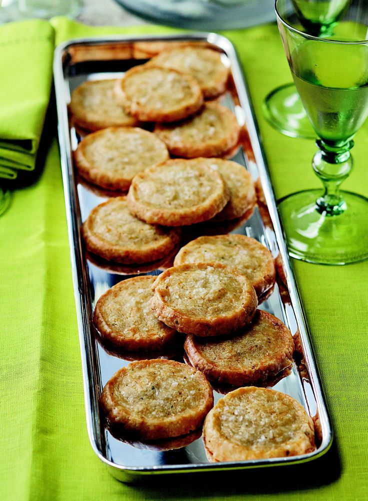 Barefoot Contessa's Jalapeño Cheddar Crackers.  Easy and very good.  Froze well before baking.