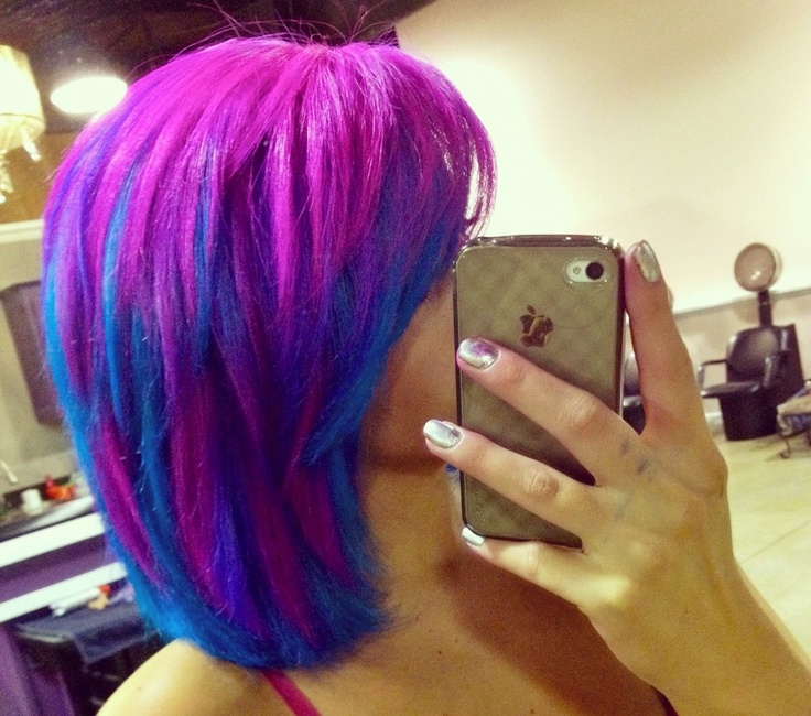 Bright Hair, too bright but pretty!!