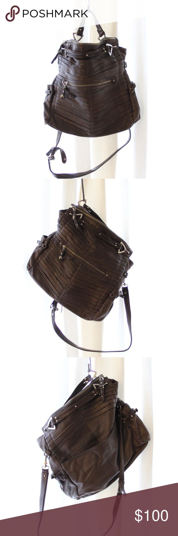 """Real Junior Drake Hobo Crossbody Bag Great condition, has 5 pockets on the outside and 4 pockets on the inside. Dimension are 14""""L x 14""""H x 2.5"""" and strap is 39"""". Comes with dustbag only. Junior Drake Bags Crossbody Bags"""