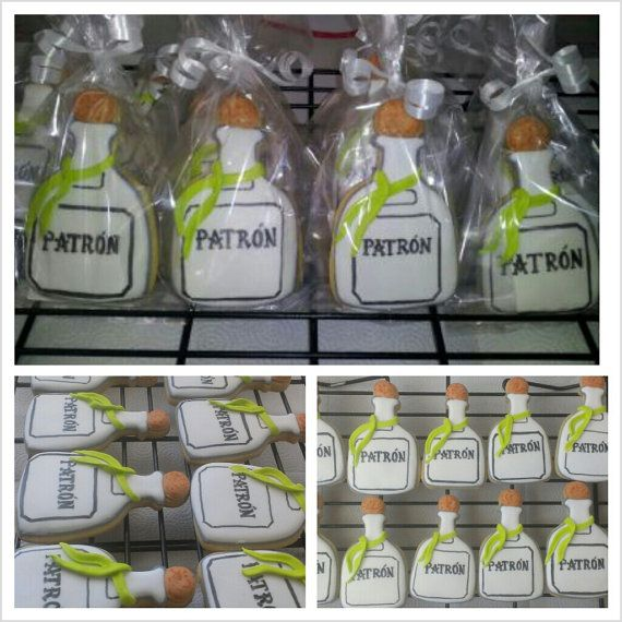 Patron Bottle Sugar Cookies ...GreeksNSweets