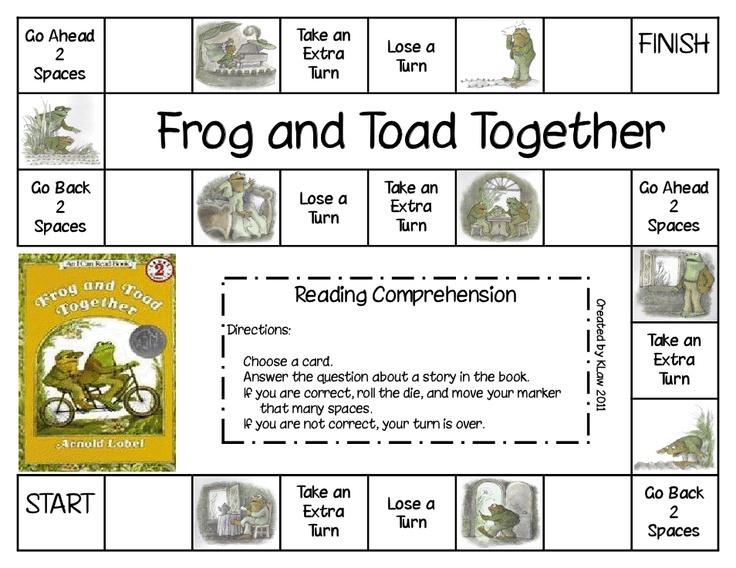 Frog and Toad Together Game.pdf Unit 4 Pinterest
