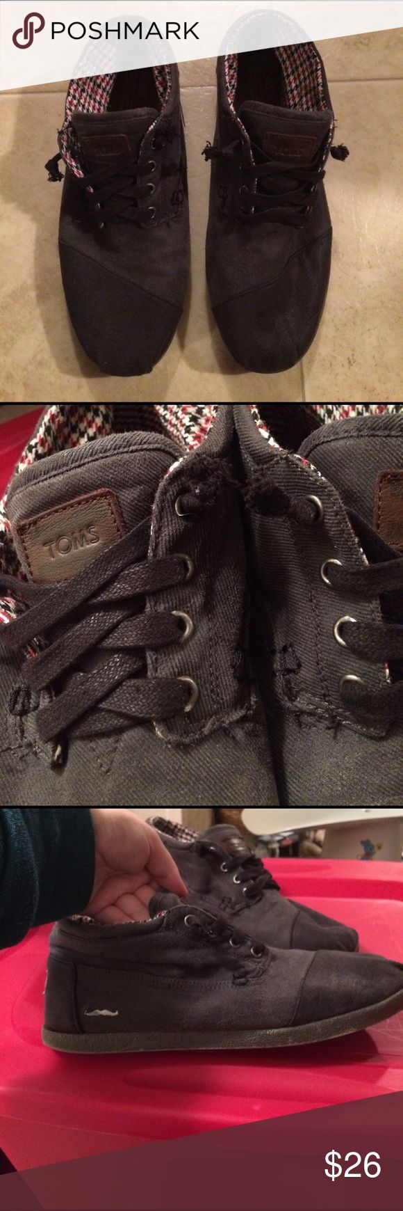 $22 men's toms canvas high top shoes euc Great condition! Minimal wear as you can see in the pics. TOMS Shoes