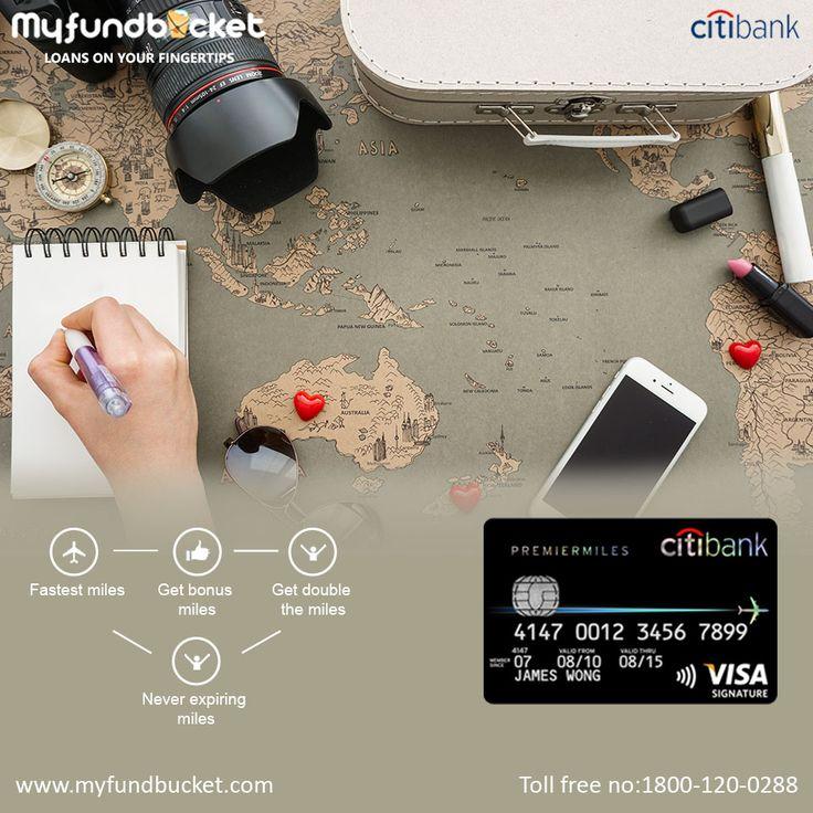 Citi bank premier miles credit card through MyFundBucket. Visit: https://www.myfundbucket.com/Credit-Card Toll Free: 1800-120-0288 #citi #b
