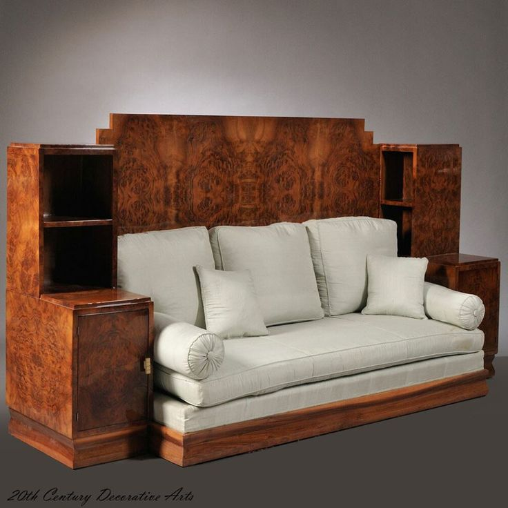 an art deco burr walnut veneered daybed france circa 1930 1930s style interior design free home design ideas images