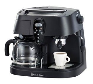 Features/Specifications Product code: RHCM3 5-in-1 Coffee Machine to make Espresso and drip coffee with 1.5L combined water tank.