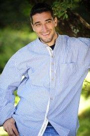 Inchigeela vintage Grandad shirt blue stripe