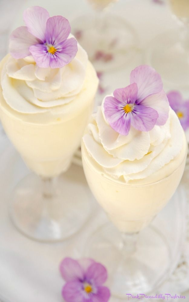 I have a light and lemony Mousse recipe to share today, that   when piped into a beautiful parfait glass, swirled with homemade   whippe...