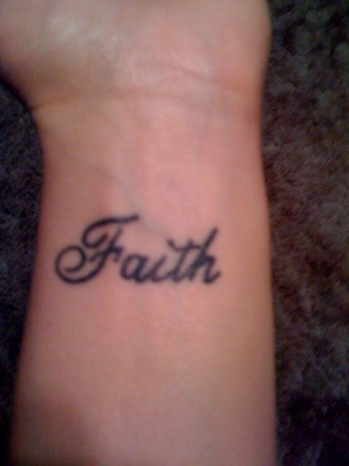 faith tattoo remember me with my friend they are always