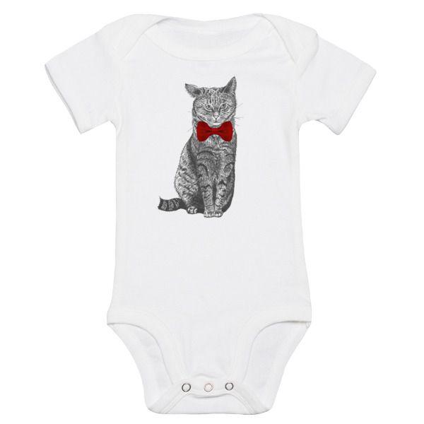 Body dziecięce z kotem klapnięte uszko