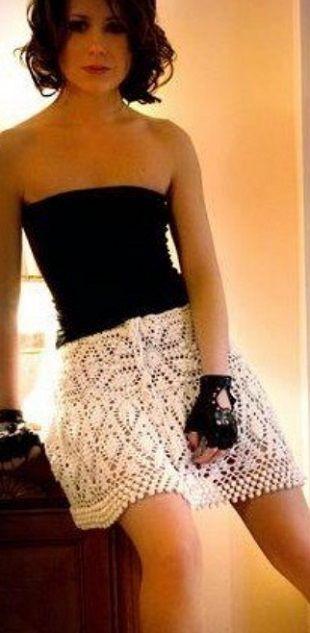 Стильная юбка крючком