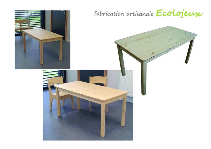 Table enfant bois massif Création écologique. Plusieurs tailles et formes réalisables. Sur commande. https://www.ecolojeux.com/73-mobilier-sur-mesure-meuble-de-jeux-amenagement-espaces-enfants