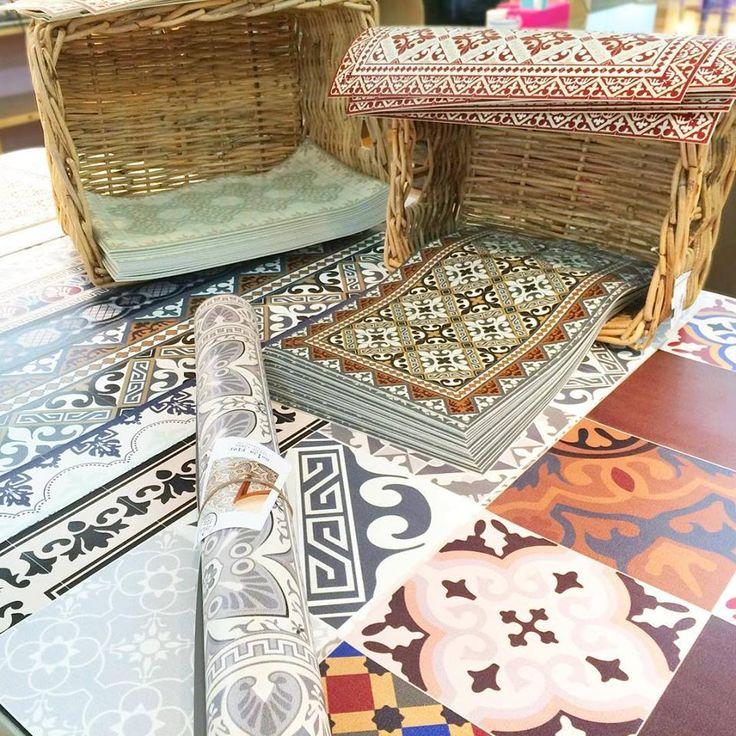 tapis vinyle carreaux de ciment Beija Flor