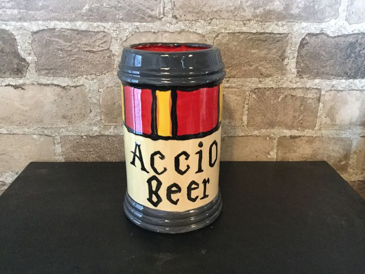 Accio Butterbeer! Come visit Clay & Cupcakes in Edmonton, AB & Corner Brook, NL! Canada's sweetest place to paint pottery!  Www.clayandcupcakes.com