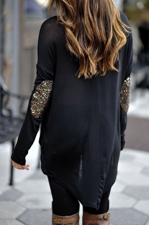 Sparkly elbow patches!