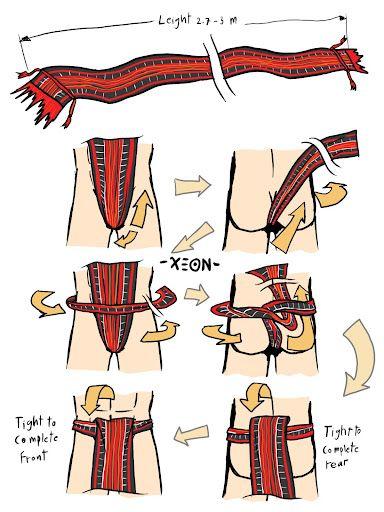 Bahag - Philippines ethnic Loincloth. Usually hand knitted by family members.     TX-Loincloth-Bahag.jpg (384×512)