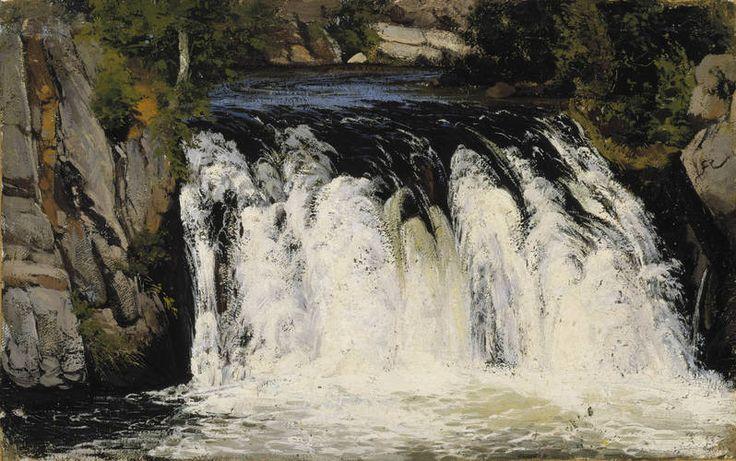 Fanny Churberg (Finlande, 1845-1892) – Chute d'eau (1877) Ateneum Art Museum, Helsinki
