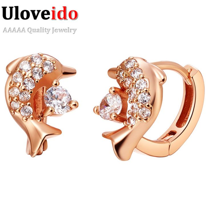 Find More Stud Earrings Information about Dolphin Earrings Stud for Women Rose Gold/Platinum Plated with Clear Zircon Simulated Diamond Brincos 18K Earings Ulove R529,High Quality earring jackets for diamond studs,China earring fittings Suppliers, Cheap earrings turkey from ULOVE Fashion Jewelry on Aliexpress.com