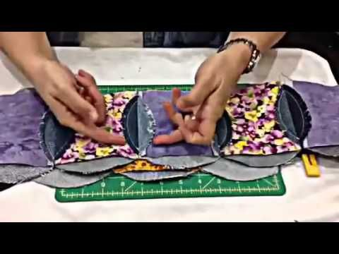 Denim Circle Rag Quilt DEMO - YouTube Quick and easy denim quilt tutorial!  Finally found the one I want to make!  Will sew in quadrants rather than rows.