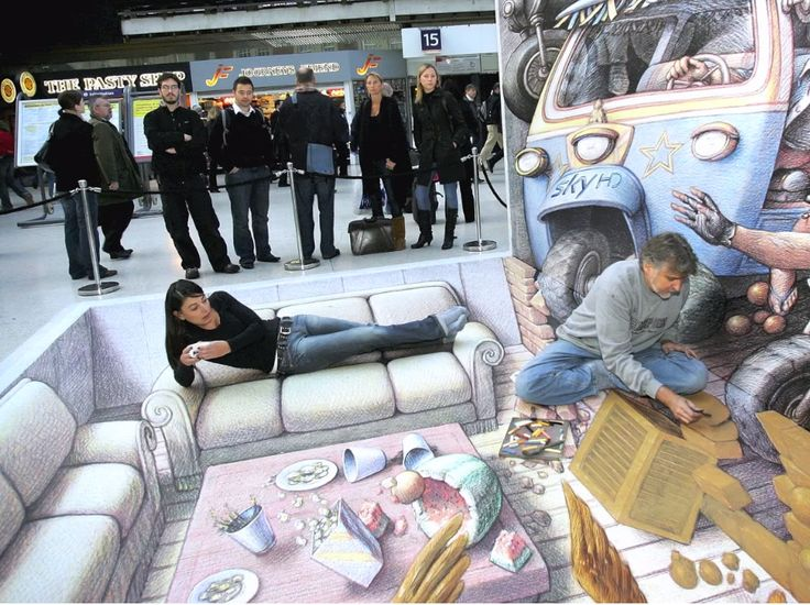 Top best od 3D street art illusions What do you thing about it?