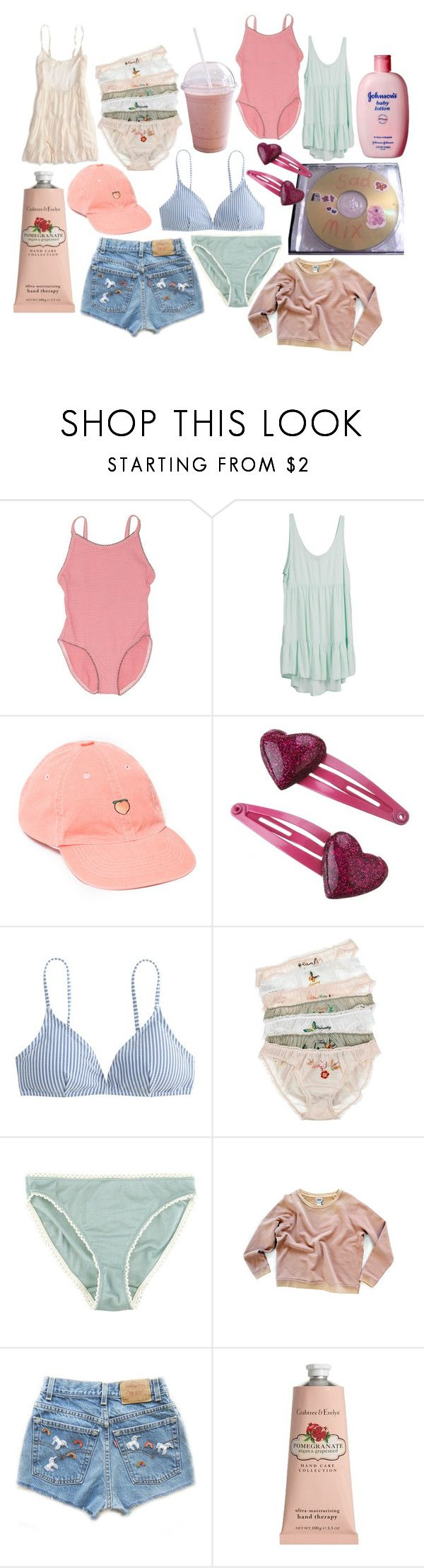 """""""a sixteen year-old nymphet"""" by nymphyt ❤ liked on Polyvore featuring Petit Bateau, UNIF, J.Crew, STELLA McCARTNEY, Araks, Crabtree & Evelyn and American Eagle Outfitters"""