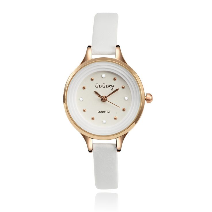 Gogoey Fashion Rose Gold Watches Small Leather Ladies Watch Women Watches Luxury Crystal Hour Clock relogio feminino reloj mujer