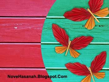 Nove Hasanah: Cara Membuat Hiasan Dinding Kupu-Kupu Kertas