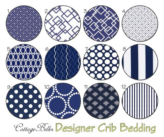 Changing Pad Cover - Navy Blue -  Modern Stripes Dots Graphic Designs by Cottage Belles on Etsy, $35.00