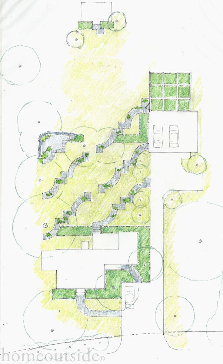 """Patterns"" landscape design scheme is playful and eccentric; Home Outside: personalized online landscape design service"