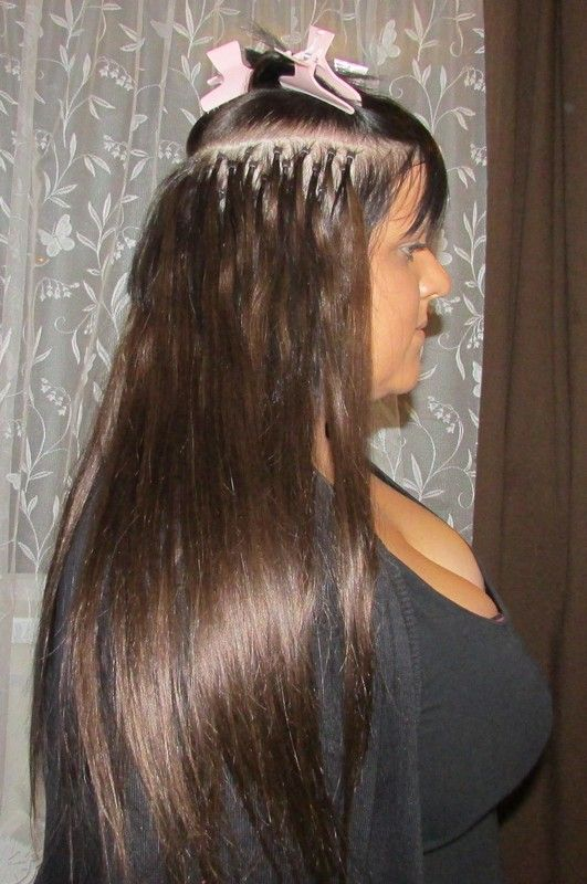Celebrity style micro bead extensions for fine