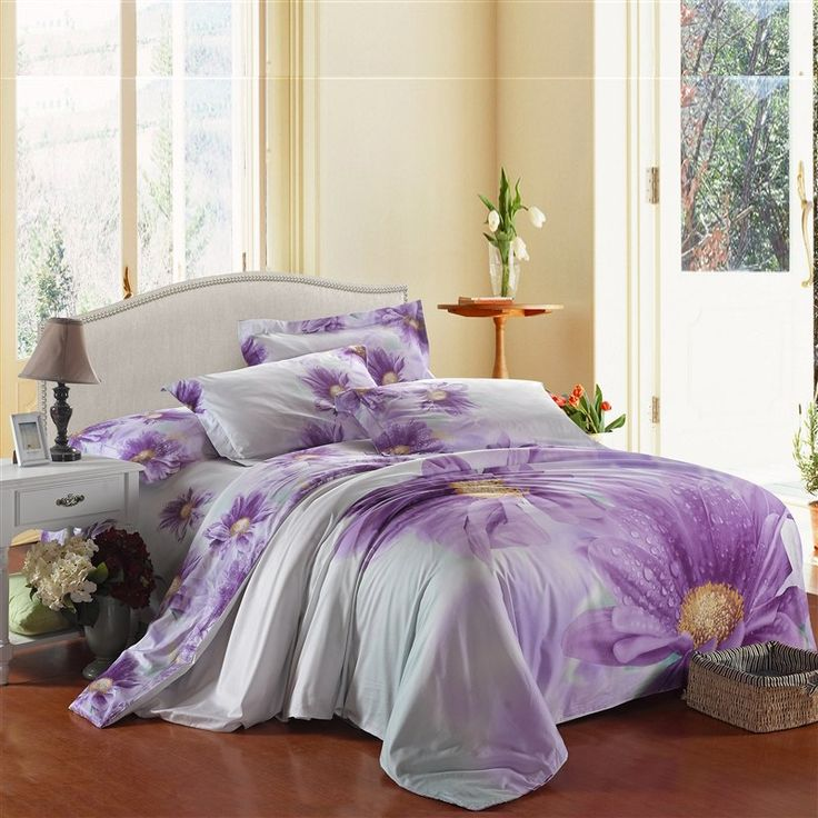 Purple Flower 100% Cotton Bedding Sets   EnjoyBedding.com.  SchlafzimmerrenovierungLila BlumenBettzeugBettwäsche BaumwollbettwäscheTröster