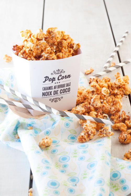 pOpcorn caramel au beurre salé/noix de coco