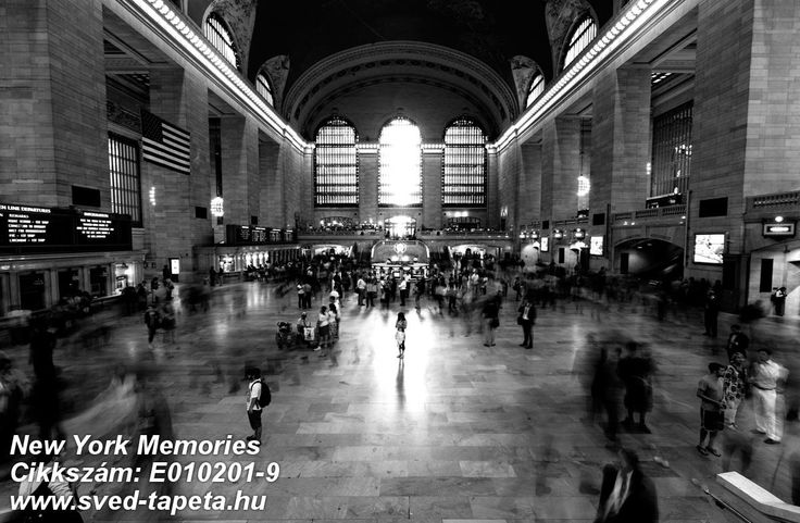 ☞ A place in constant motion with 100 000's of people passing every day. Sit back on the couch and enjoy people watching. #grand #central #wall #decor #tapeta #foto #poster