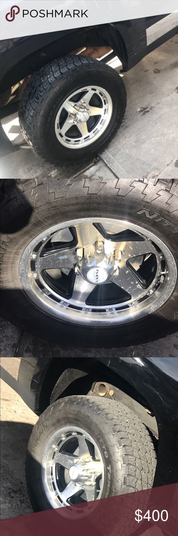 """18"""" set of 4 Truck rims Set of 4 Flexx rims 18"""".Clean 100% fine, just took them off my Gmc sierra as shown.Only three rims cover one is missing.7209008820 Other"""
