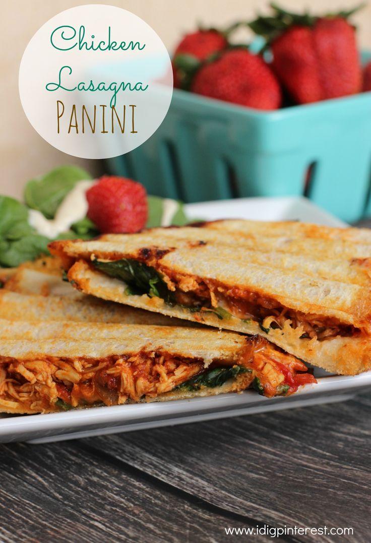 Easy Chicken Lasagna Panini on MyRecipeMagic.com