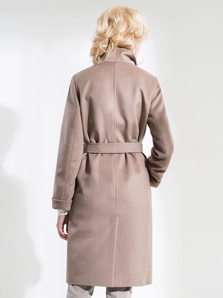 Пальто женское демисезонное цвет мокко, Пальтовая ткань, артикул 1016820p10088