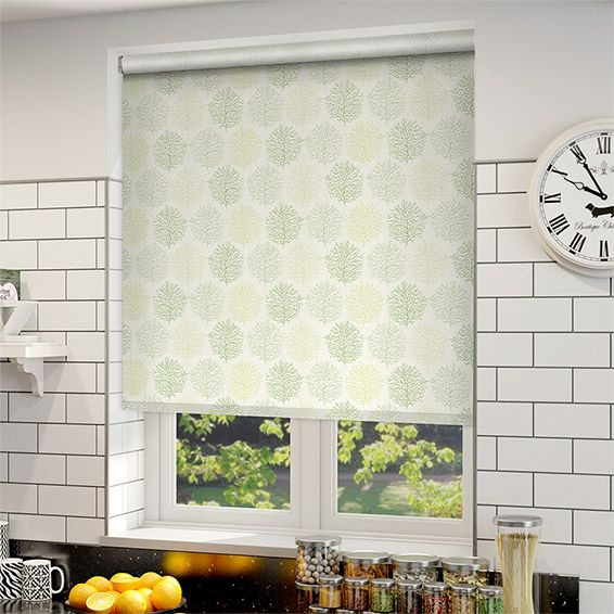 Cool Choices Sprigs Park Green Roller Blind