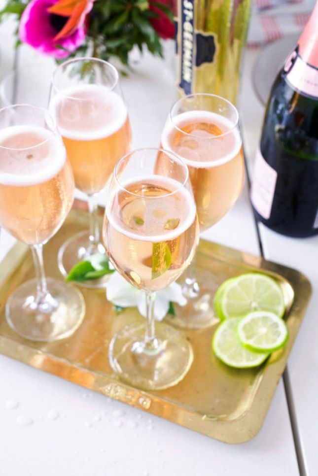 Save this brunch drink recipe to make a Southwestern Rose Champagne Cocktail.