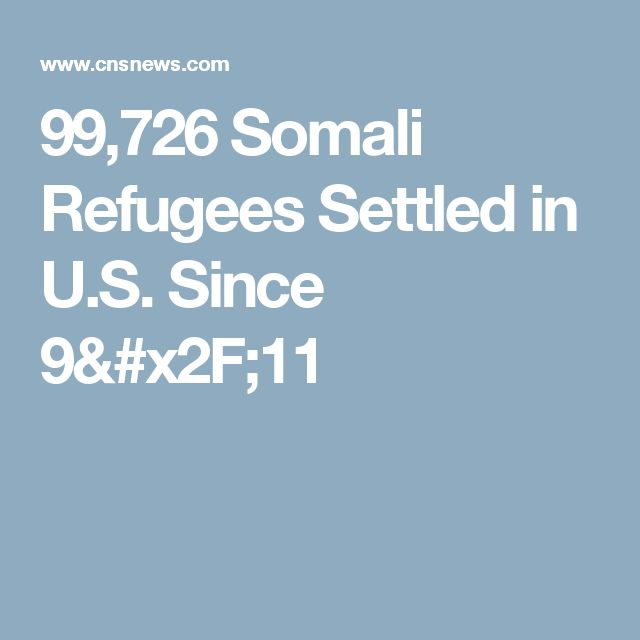 99,726 Somali Refugees Settled in U.S. Since 9/11
