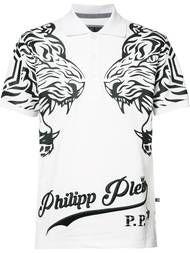 Shop Philipp Plein painted skull print T-shirt.