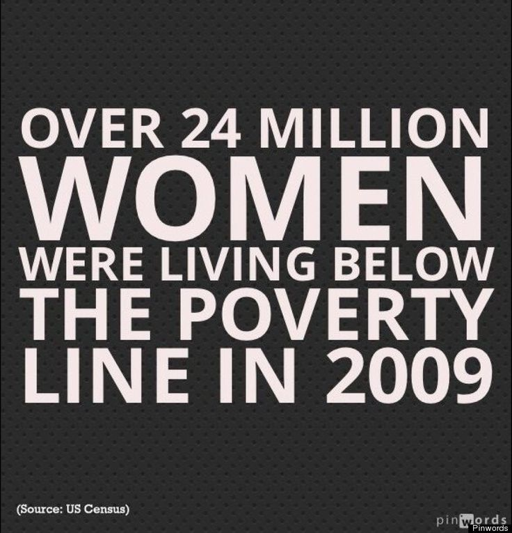 1 of 18 facts about women and poverty that all of us should know