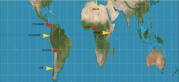 Nel corso della nostra storia decennale abbiamo lavorato fianco a fianco con tante #organizzazioni di vario genere in Paesi diversi (#Bolivia, #Chile, #Ciad, #Colombia, #Ecuador, #Kenya, #Italia).