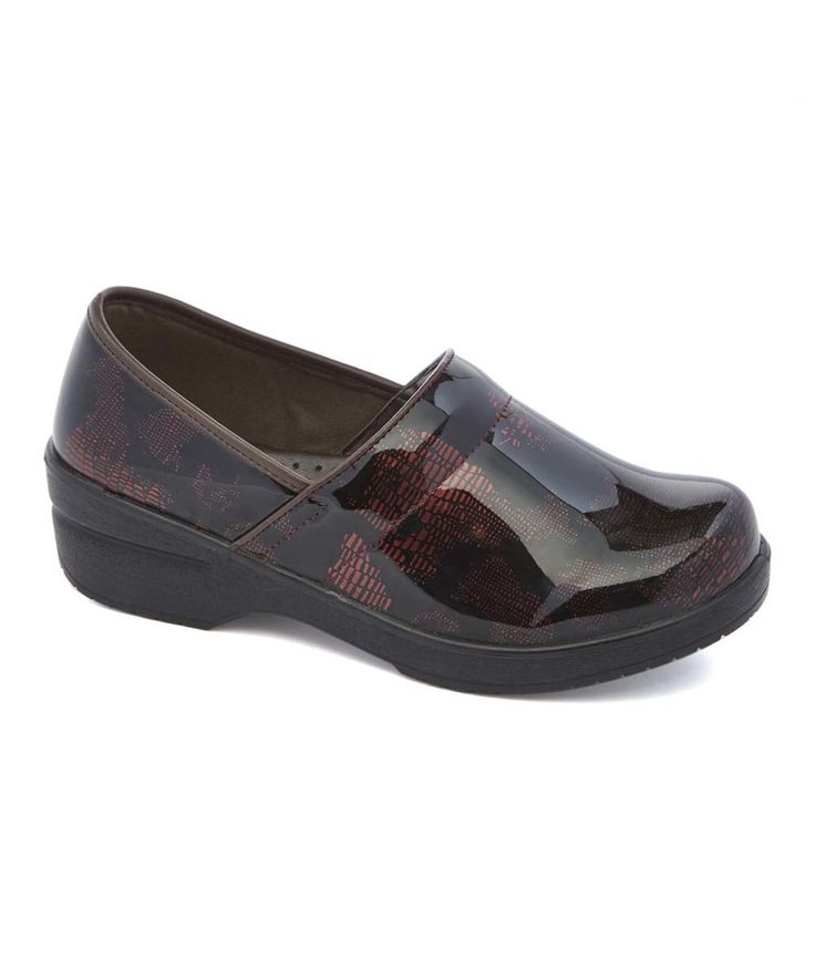 Look at this Lady Godiva Burgundy Map Dannis Clog on #zulily today!