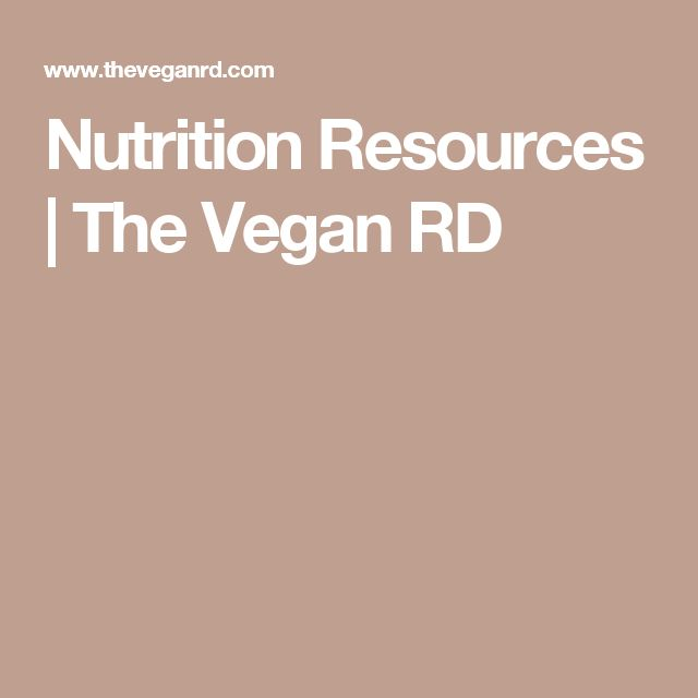 Nutrition Resources | The Vegan RD