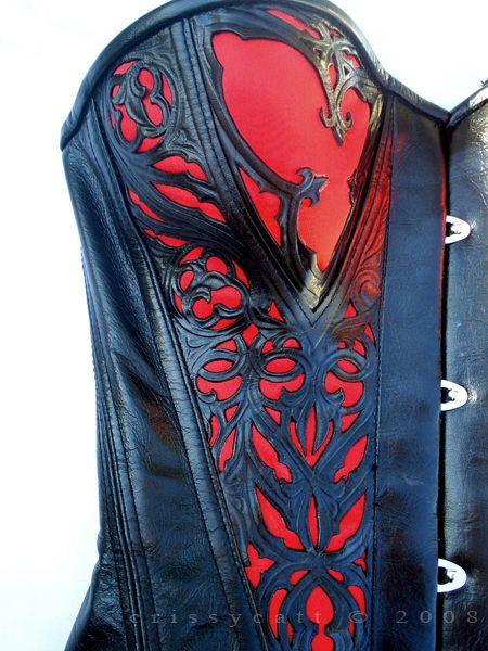 Leather corset (close-up) ~ CrissyCatt @ deviantart.com