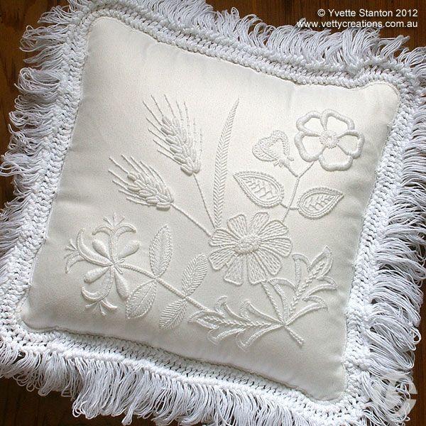 portuguese embroidery   ... cushion Portuguese whitework ornaments Portuguese whitework biscornu