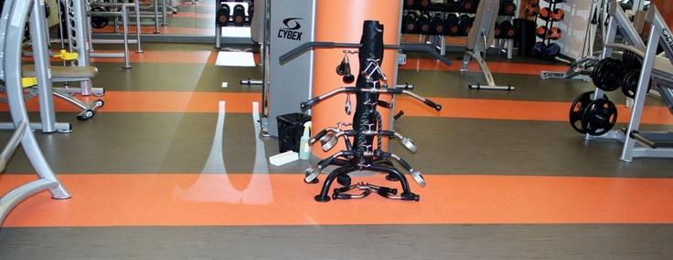 Anderson Carpet grey/green and orange linoleum | kitchen
